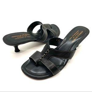 Donald J Pliner Vonna Sandals Black Leather 8